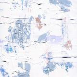 Vit målad texturerad bakgrund med borsteslaglängder Royaltyfri Bild