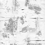 Vit målad texturerad bakgrund med borsteslaglängder Fotografering för Bildbyråer