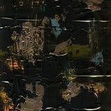 Vit målad texturerad bakgrund med borsteslaglängder Arkivfoton