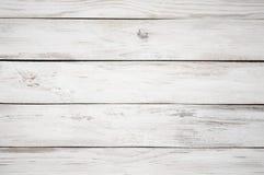 Vit målad wood textur Royaltyfria Foton