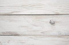 Vit målad wood textur Royaltyfri Bild