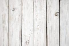 Vit målad wood textur Arkivbilder