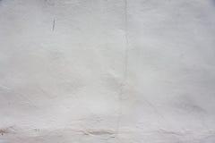 Vit målarfärgbetongvägg Royaltyfri Foto