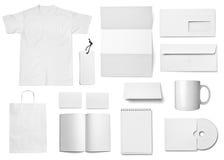 Vit mall för blankt papper arkivbild
