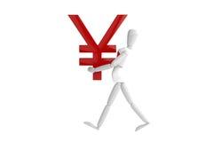 Vit man för Japan yenvaluta Royaltyfri Bild