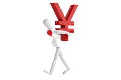 Vit man för Japan yenvaluta Arkivbild