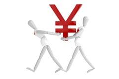 Vit man för Japan yenvaluta Royaltyfri Foto