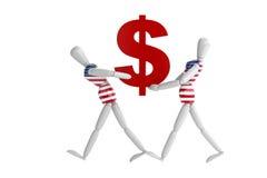 Vit man för USA-dollasvaluta Royaltyfri Bild
