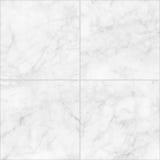 Vit marmor belägger med tegel sömlös durktextur för bakgrund och design Royaltyfria Bilder