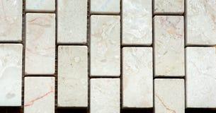 Vit marmor från rektangel arkivbild