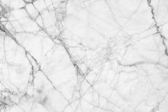Vit marmor mönstrad texturbakgrund Marmor av Thailand, abstrakt naturlig marmor som är svartvit (grå färger) för design Royaltyfri Fotografi
