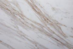 Vit marmor med bruna åder tätt upp arkivbild