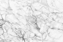 Vit marmortextur, detaljerad struktur av marmor i naturligt mönstrat för bakgrund och design Arkivbilder