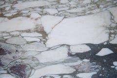 Vit marmortextur med den naturliga modellen för bakgrund Royaltyfri Foto