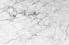 Vit marmortextur med massor av djärvt kontrastera som veining royaltyfri bild