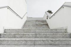 vit marmortrappa Royaltyfri Fotografi