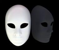 Vit maskering arkivbild