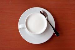 Vit mjölkar i kopp Royaltyfria Foton