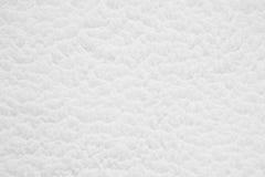 Vit mjuk snöyttersidatextur Fotografering för Bildbyråer