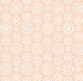 Vit modell för prickcirklar på varm beiga Arkivfoto