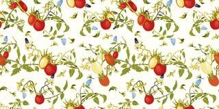 Vit modell med tomaten, växten och fjärilen stock illustrationer