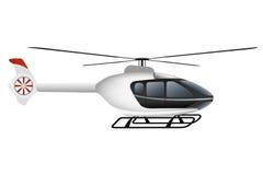Vit modern helikopter Arkivfoton