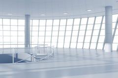 Vit modern korridor för affärsmitt Arkivbild