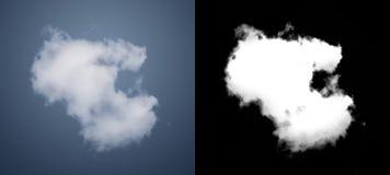 Vit molnutklippmaskering Arkivfoto