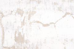 Vit murbrukväggbakgrund, grunge Arkivbilder
