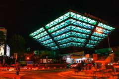 Vit natt för festival royaltyfria foton