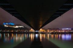 Vit natt - samtida konstfestival i Bratislava, Slovakien, Fotografering för Bildbyråer