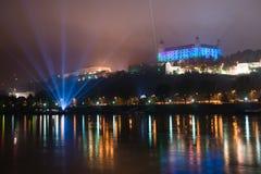 Vit natt - samtida konstfestival i Bratislava, Slovakien, Arkivfoto