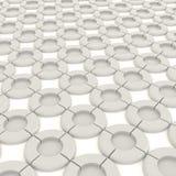 vit objektmodell för rund form 3D Arkivfoto
