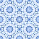 Vit och blå sömlöst för vanlig rund stjärnamodell och delikat stock illustrationer