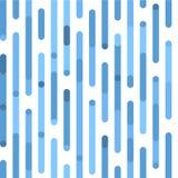Vit och blått mönstrar Sömlös festlig modell för vektor med irregularlinjer och rundade hörn Fotografering för Bildbyråer