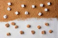 Vit och brunt Sugar Contrast royaltyfria foton