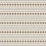 Vit- och bruntpolkaDot Abstract Design Tile Pattern repetition B Royaltyfri Fotografi