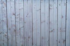 Vit- och grå färgbakgrund, gammalt målat träbräde Royaltyfri Foto