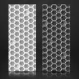 Vit och Gray Geometric Texture Banner. Arkivbilder