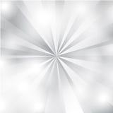Vit och Gray Sunburst Background Royaltyfri Fotografi
