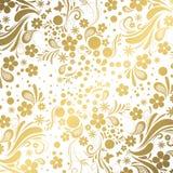 Vit och guld- bakgrund Royaltyfria Foton
