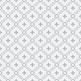 Vit och Pale Blue Fleur-De-Lis Pattern Textured tyg Backgro Arkivbilder