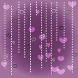 Vit och purpurfärgad hjärta Fotografering för Bildbyråer