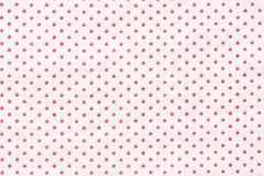 Vit och röd mycket liten polka Dots Background Royaltyfri Bild