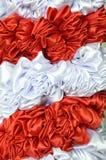 Vit och röd torkduk Royaltyfri Bild