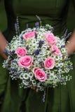 Vit och rosa bröllopbukett Royaltyfri Bild