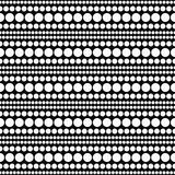 Vit- och svartpolkaDot Abstract Design Tile Pattern repetition B Arkivbilder