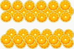 Vit orange frukt äter cirkeln Fotografering för Bildbyråer