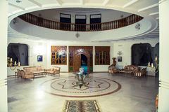 Vit oval korridor royaltyfri fotografi