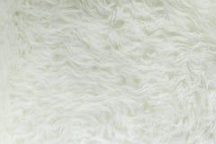 Vit pälstextur, närbild Royaltyfri Foto